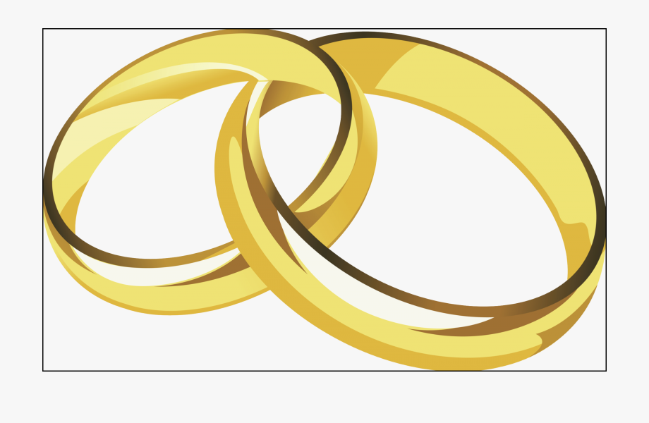 Cross With Wedding Rings Png.