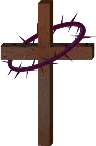 Cross with crown of thorns.
