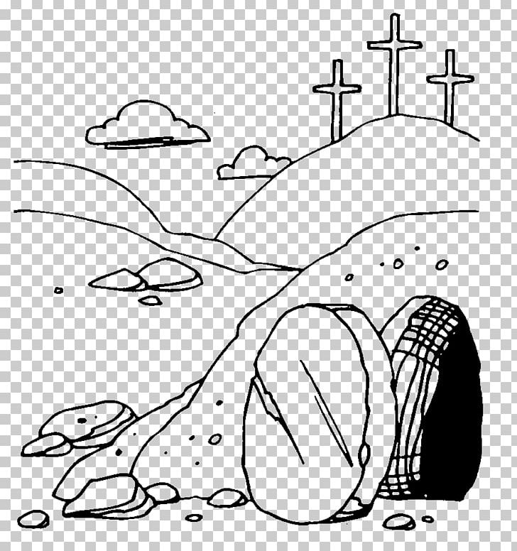 Resurrection Of Jesus Easter Empty Tomb PNG, Clipart, Angle, Black.