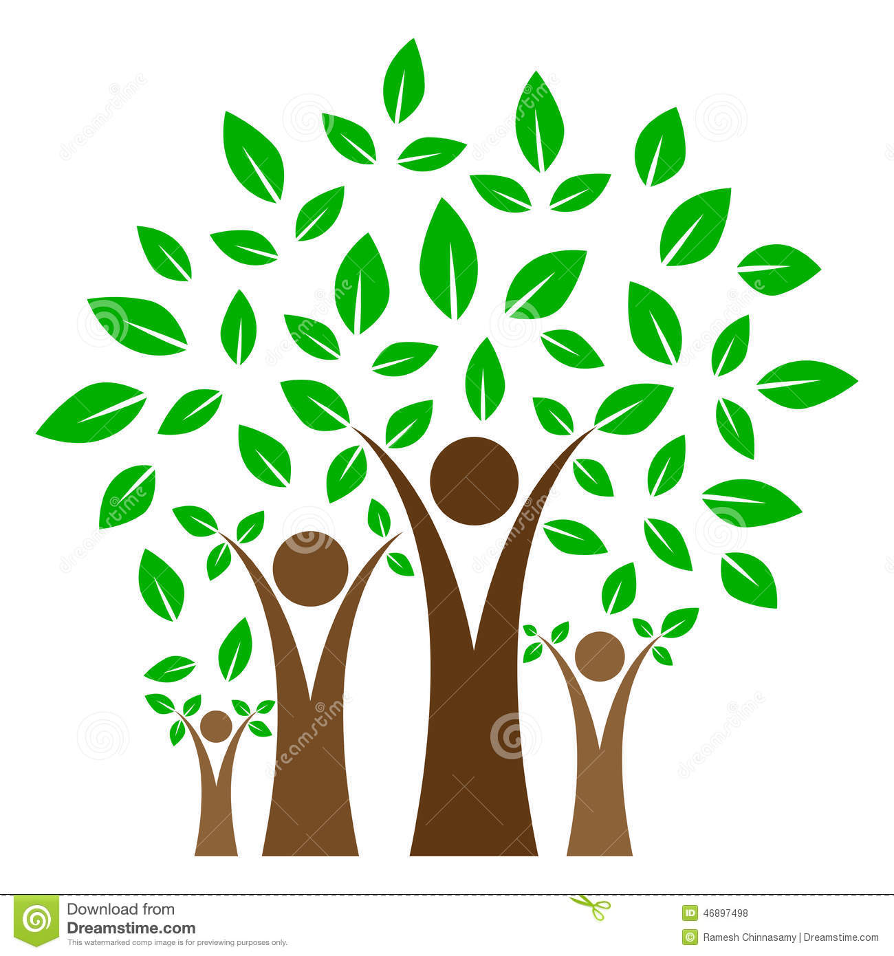 Family Tree With Cross Clipart.