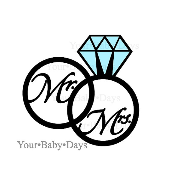 wedding rings svg files - Wedding Ring Clipart
