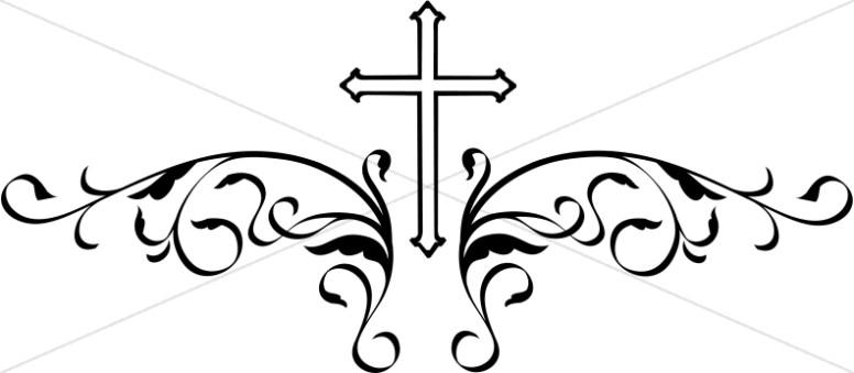 Fancy Cross Clipart.