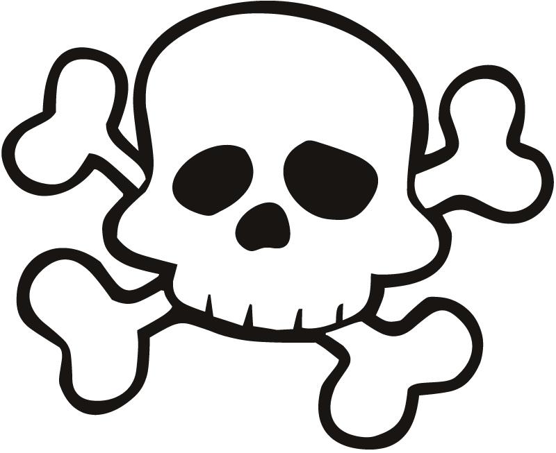 Skull and cross bones clip art.