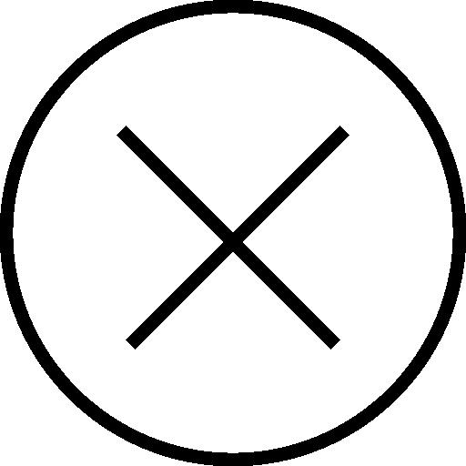 Cross circular button interface symbol Icons.