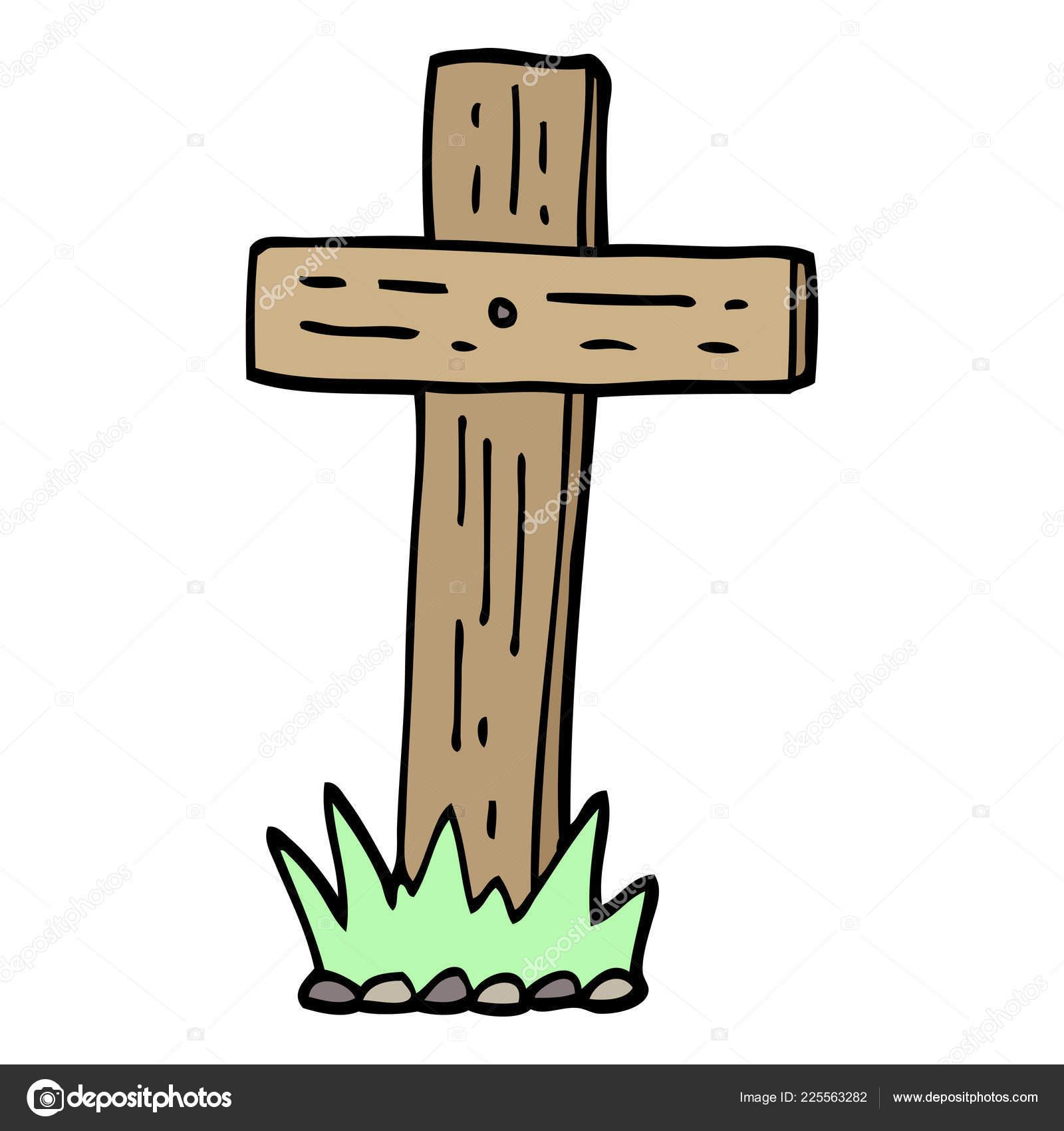 Clipart: wooden cross.