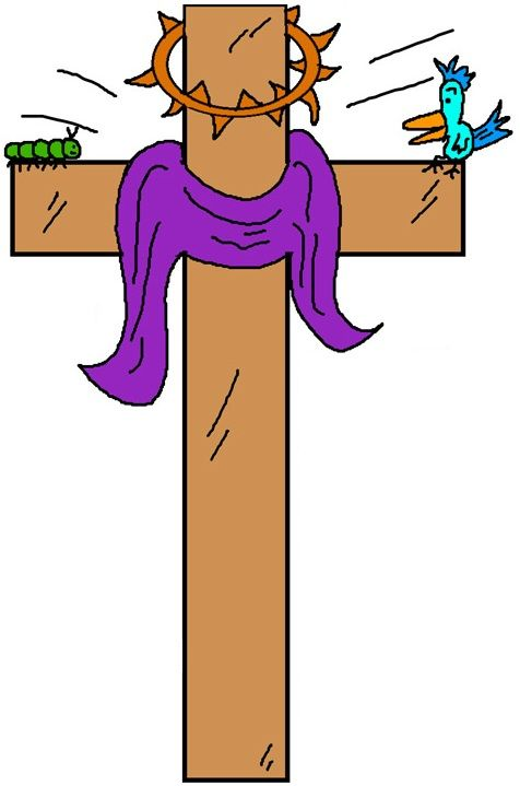 Cross with thorns clipart.