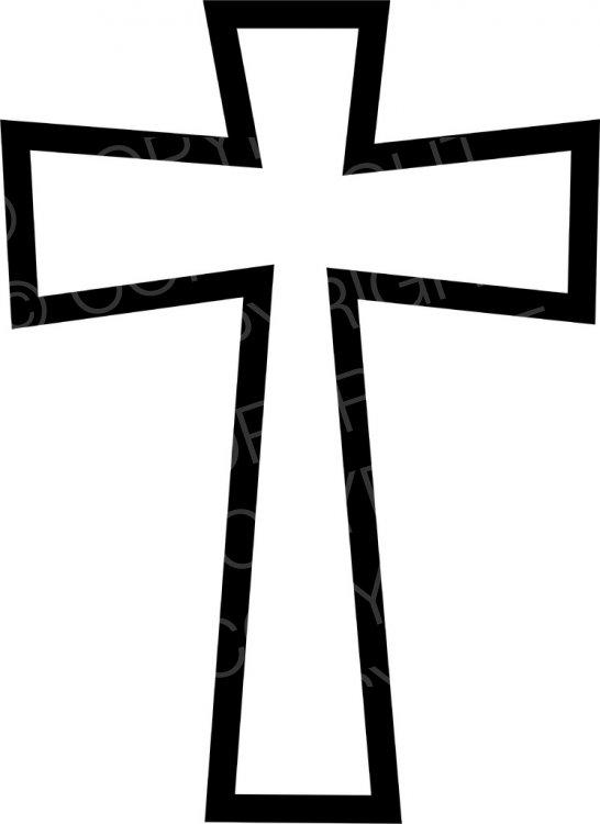 Simple Black Celtic Cross Symbol Prawny Christian Clip Art.