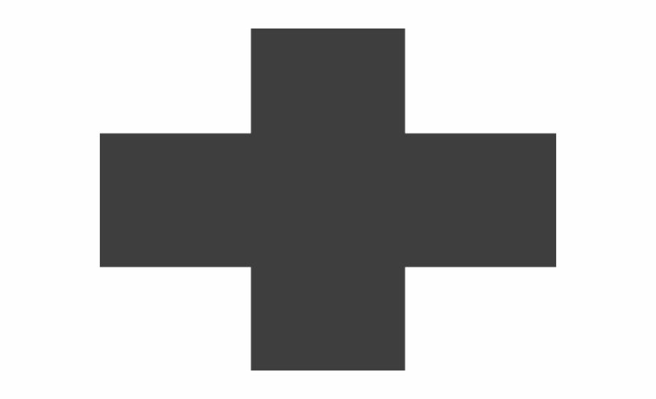Red Cross Clipart Black And White Icono Cruz.
