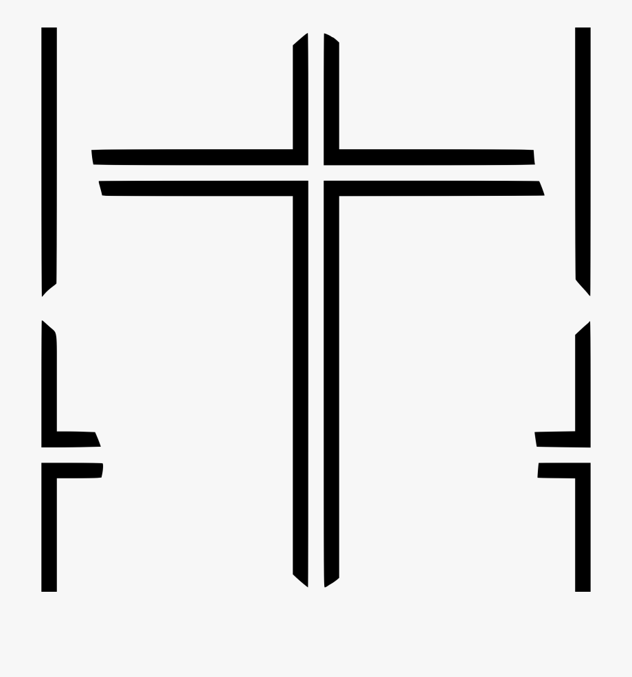 Cross Clipart Black And White Outline.