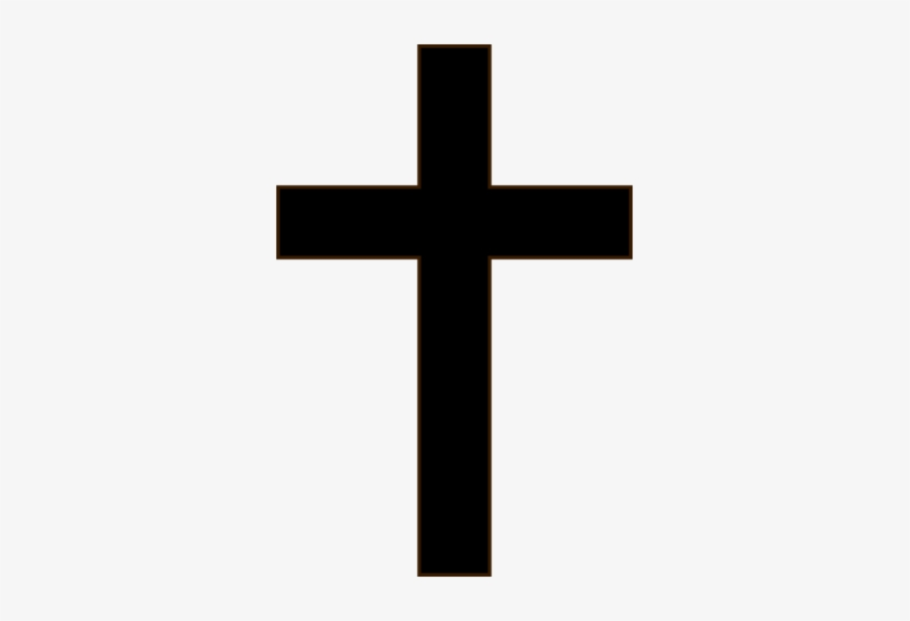 Pin Cross Clipart Black And White Png.