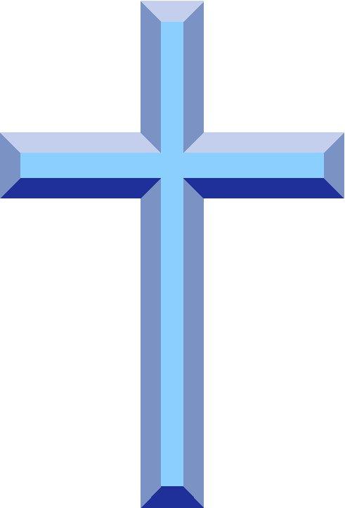 Blue Baptism Cross Clipart.