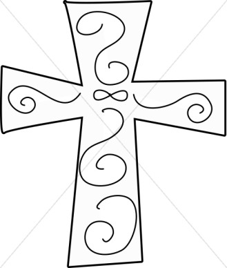 Rustic Cross Outline Clipart#2038663.
