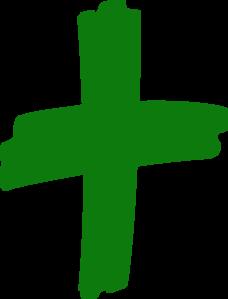 Showing post & media for Green cross clip art cartoon.