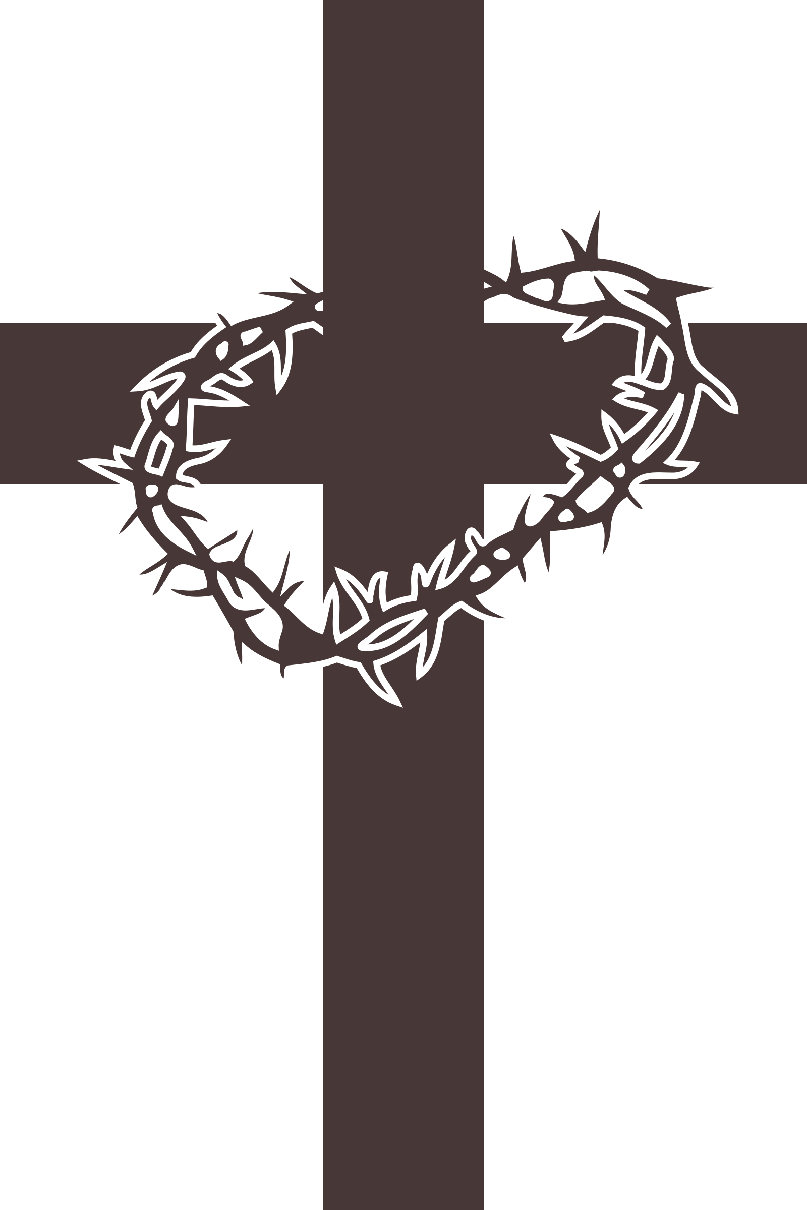 Cross and Thorns vector clipart image.