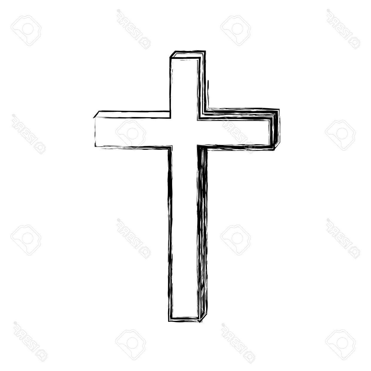 HD Wooden Cross Clipart Vector Drawing » Free Vector Art, Images.