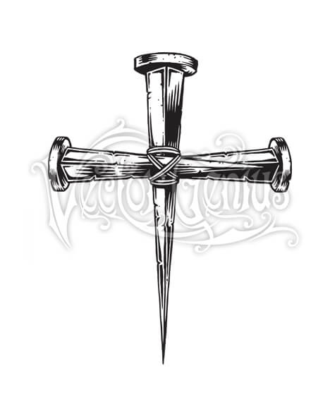 Cross Nail Christian Religious ClipArt.