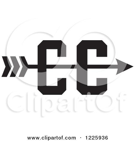 Cross country arrow clipart.