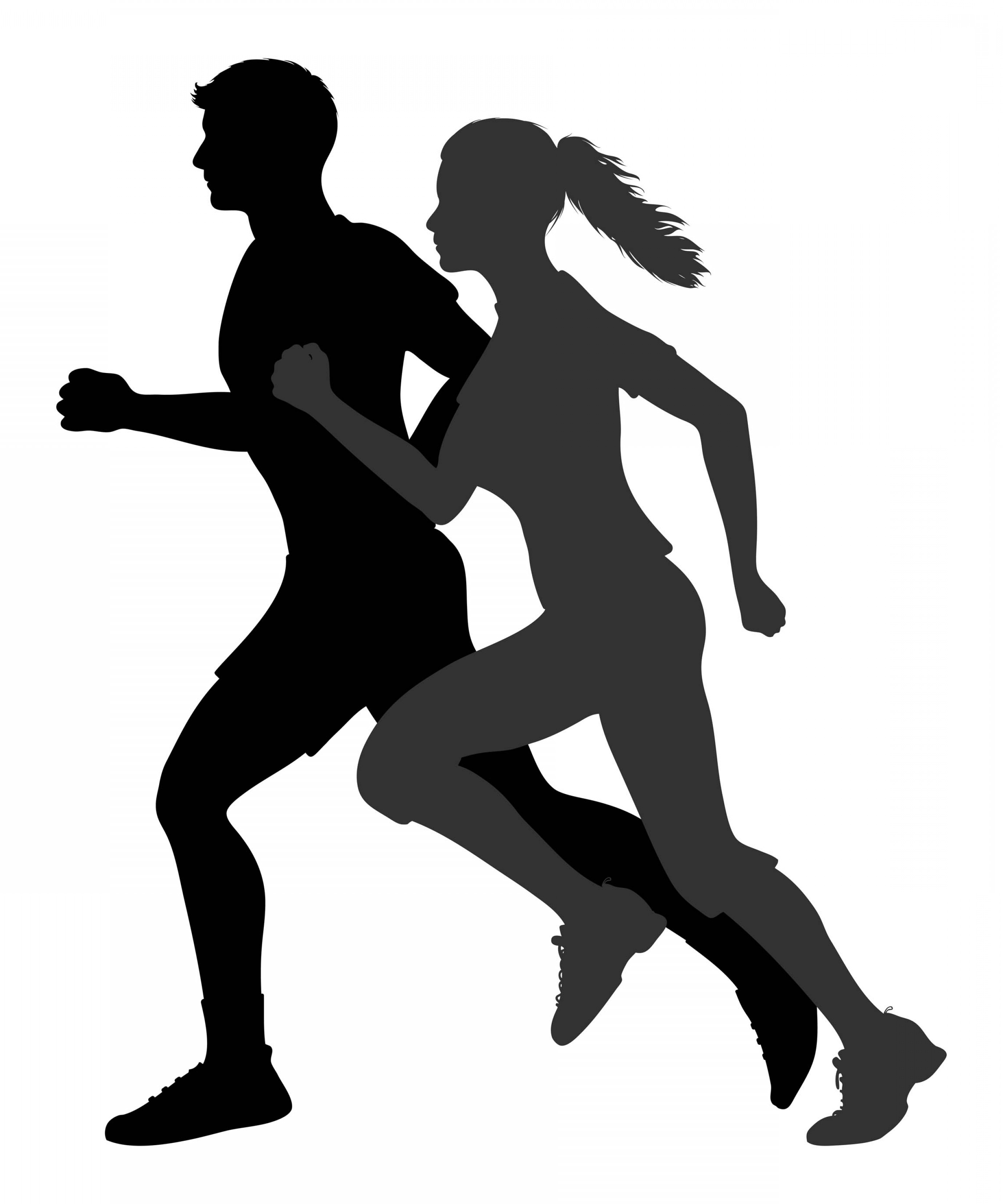 Cross Country Running Clip Art Vector.