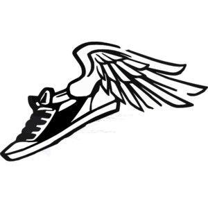 free clipart images running shoes.