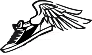 Cross Country Running Shoes Clipart.