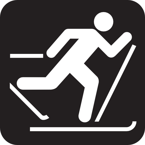 Cross Country Skis Clipart.