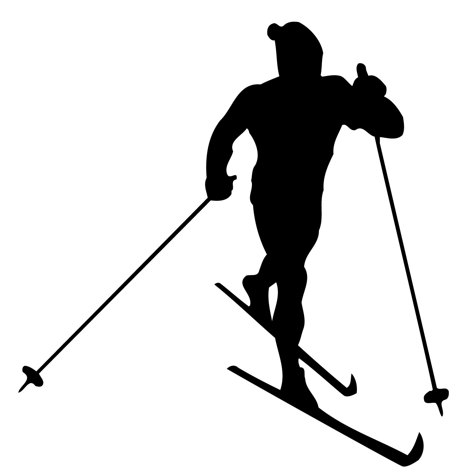 Free clipart cross country skiing.