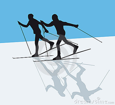 Nordic Skiing Stock Illustrations.