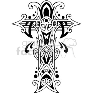stylish cross design clipart. Royalty.