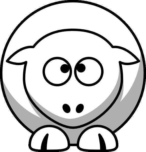 Sheep Cross Eyed Up Clip Art at Clker.com.