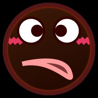 cross eyed face(bk).