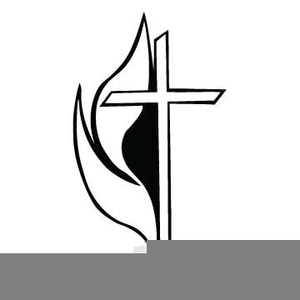 Methodist Cross And Flame Clipart.