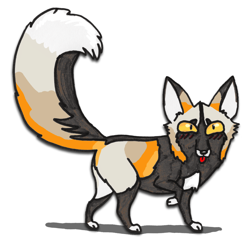 Cross fox clipart #4