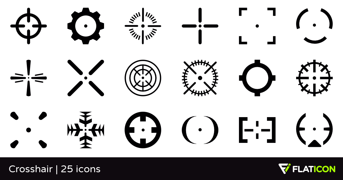 Crosshair 25 free icons (SVG, EPS, PSD, PNG files).