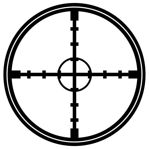 Transparent Crosshair Png Vector, Clipart, PSD.