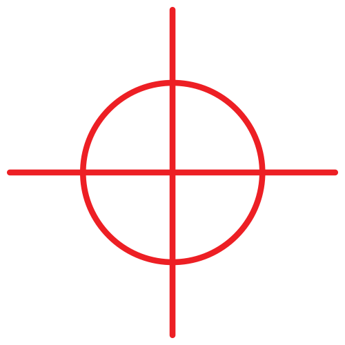 Crosshair PNG Transparent Image.