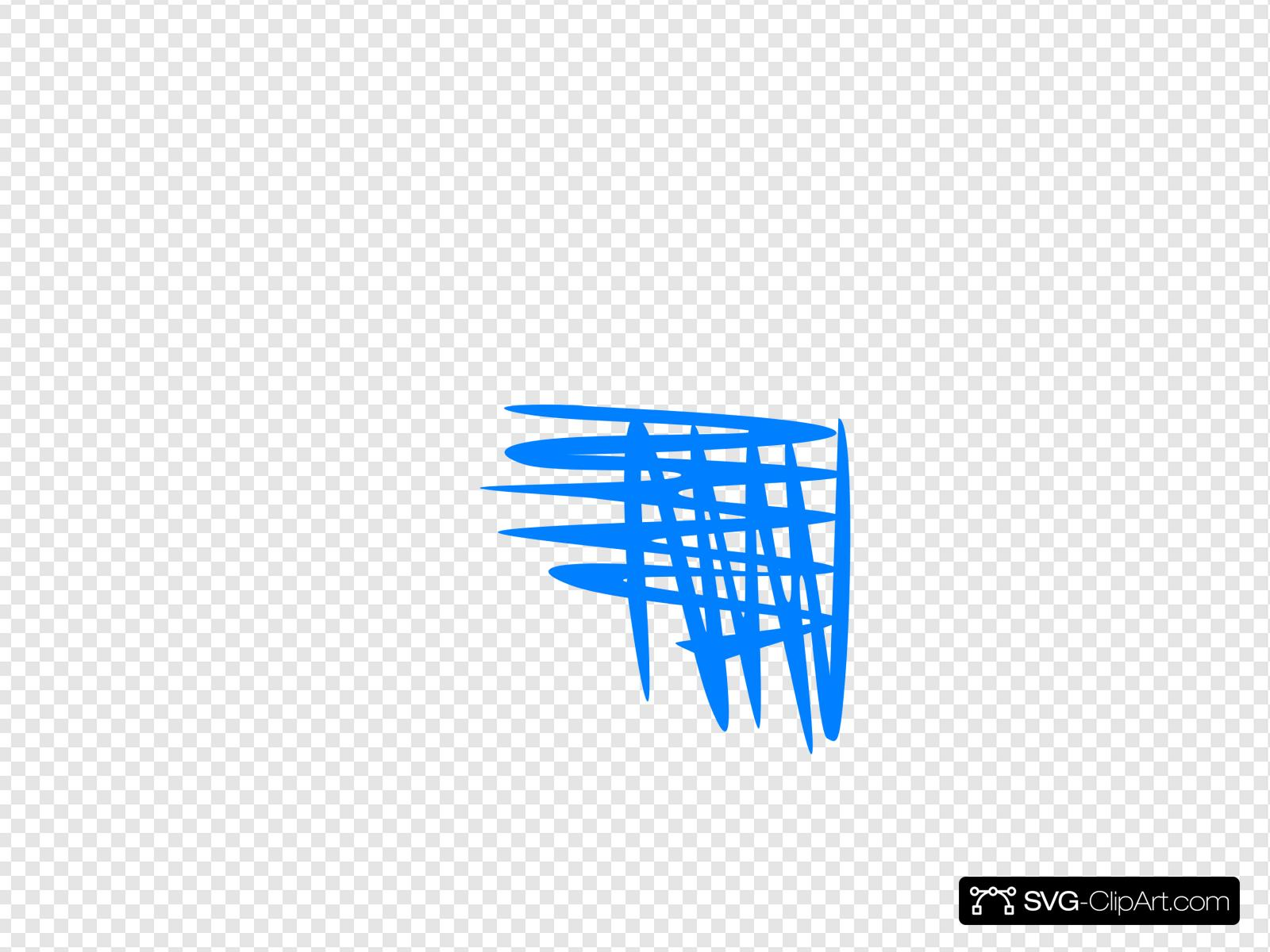 Blue Cross Hatch Shading Clip art, Icon and SVG.