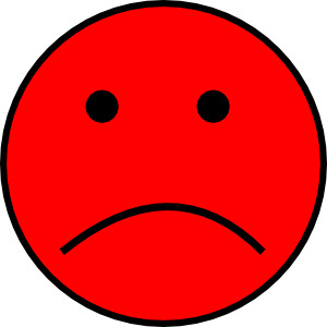 Frowny face clip art.