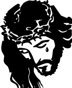 Jesus Carrying Cross Silhouette.