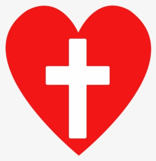 Free Heart And Cross Clip Art with No Background.