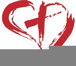 Cross Inside Heart Clipart.