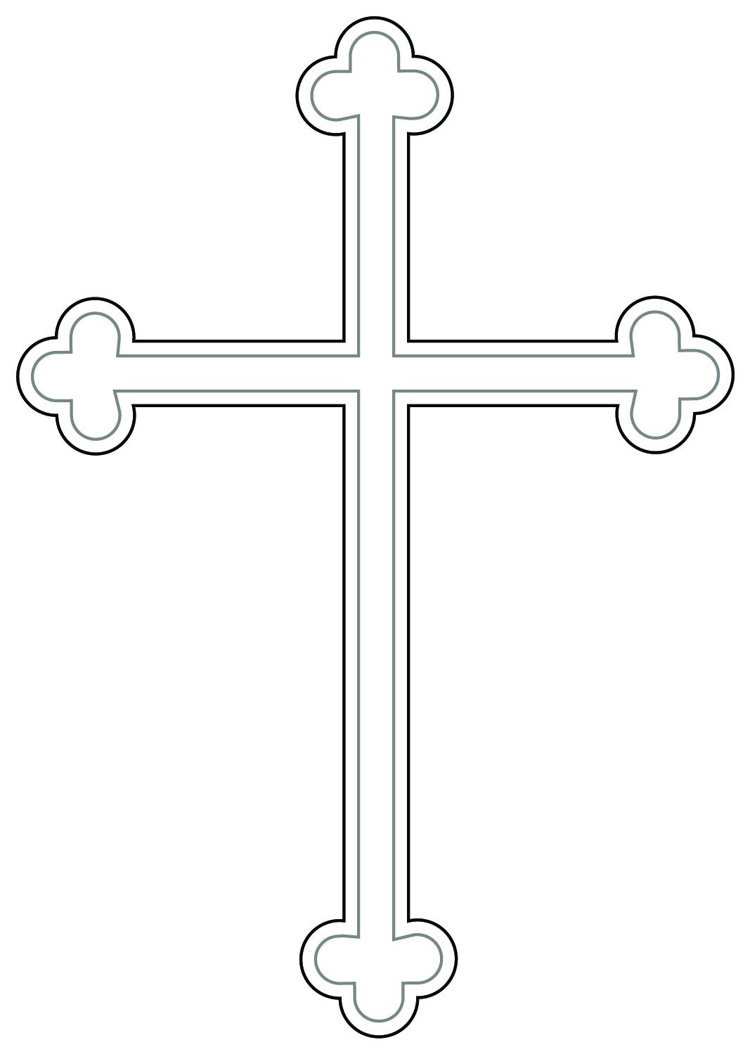 White cross clipart #5