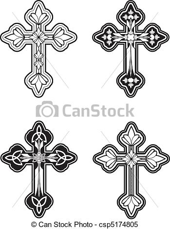 Clipart Vector of Celtic Cross.