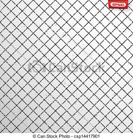 Vector Clipart of Seamless cross hatch pattern with grunge.
