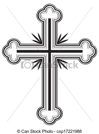 Vector of Traditional Armenian Apostolic Church cross clip art.