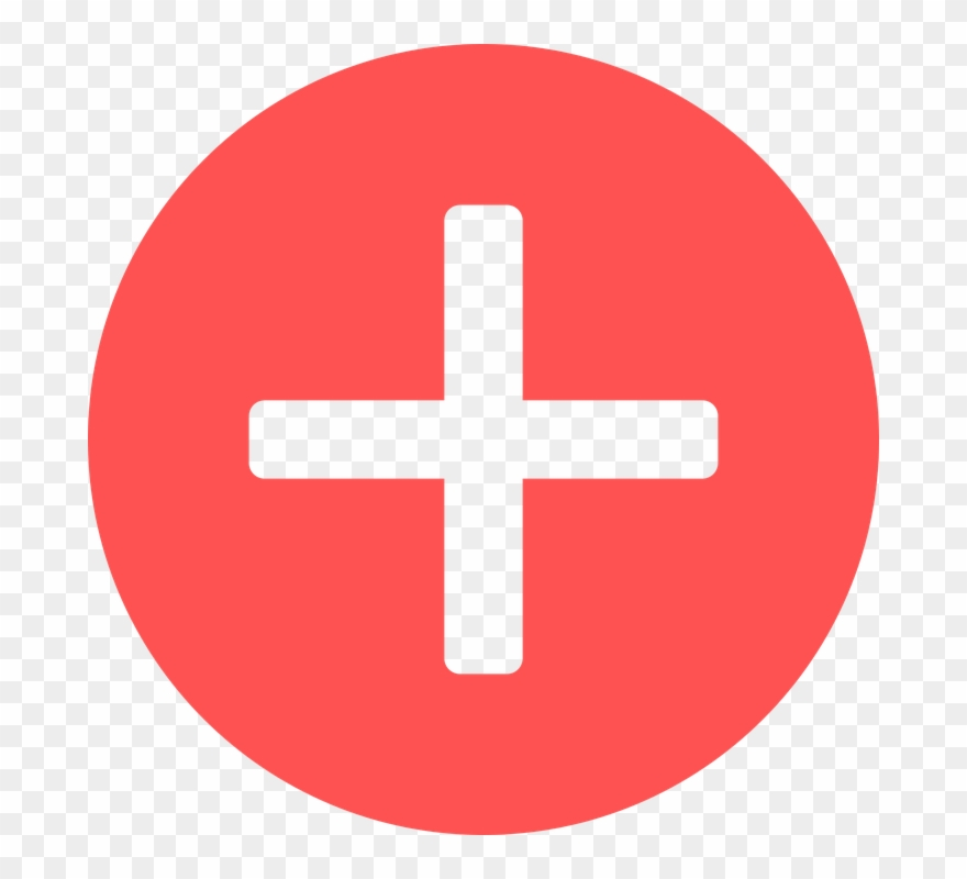 Medical Red Cross Symbol Clipart Image.