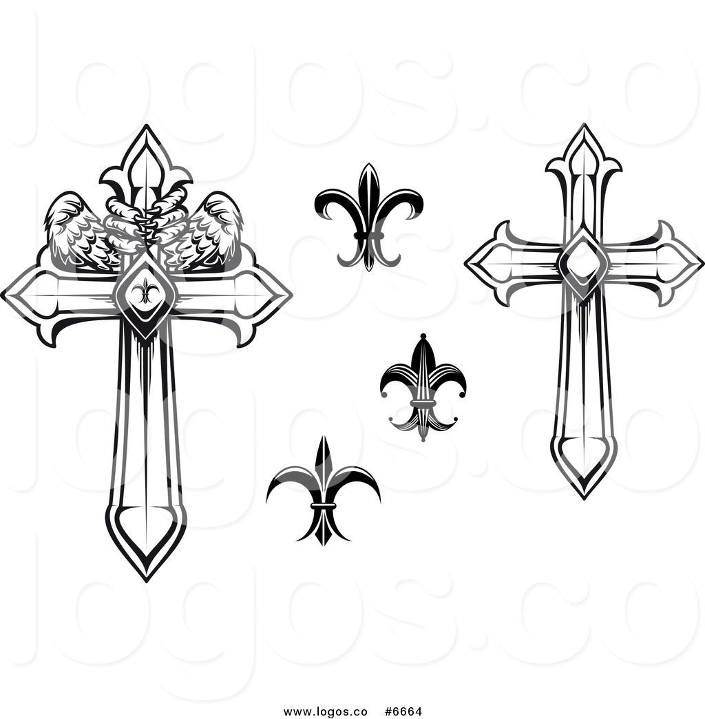 Royalty Free Clip Art Vector Logos of Black and White Heraldic.