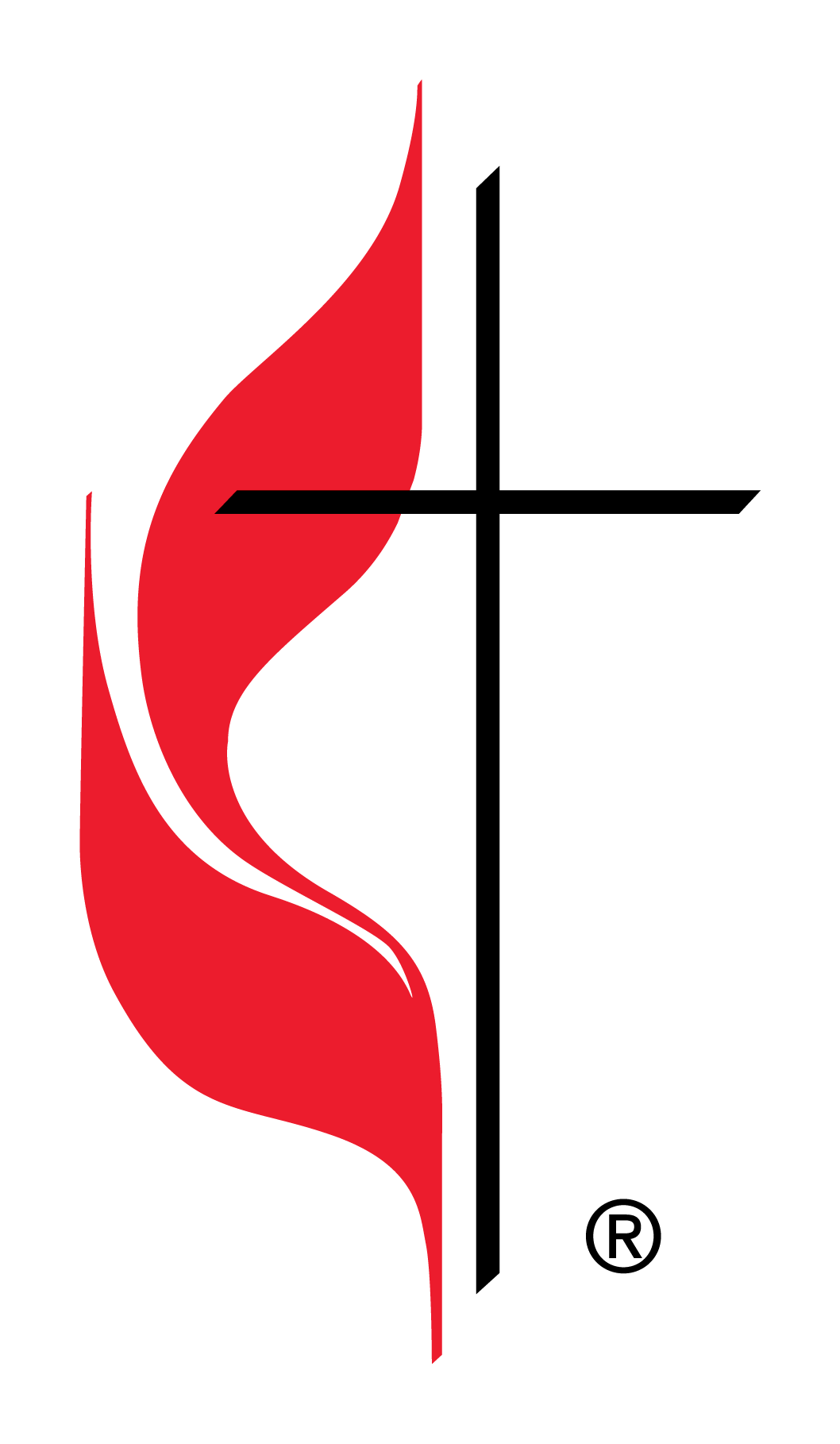 Official Cross and Flame Logo of The United Methodist Church.