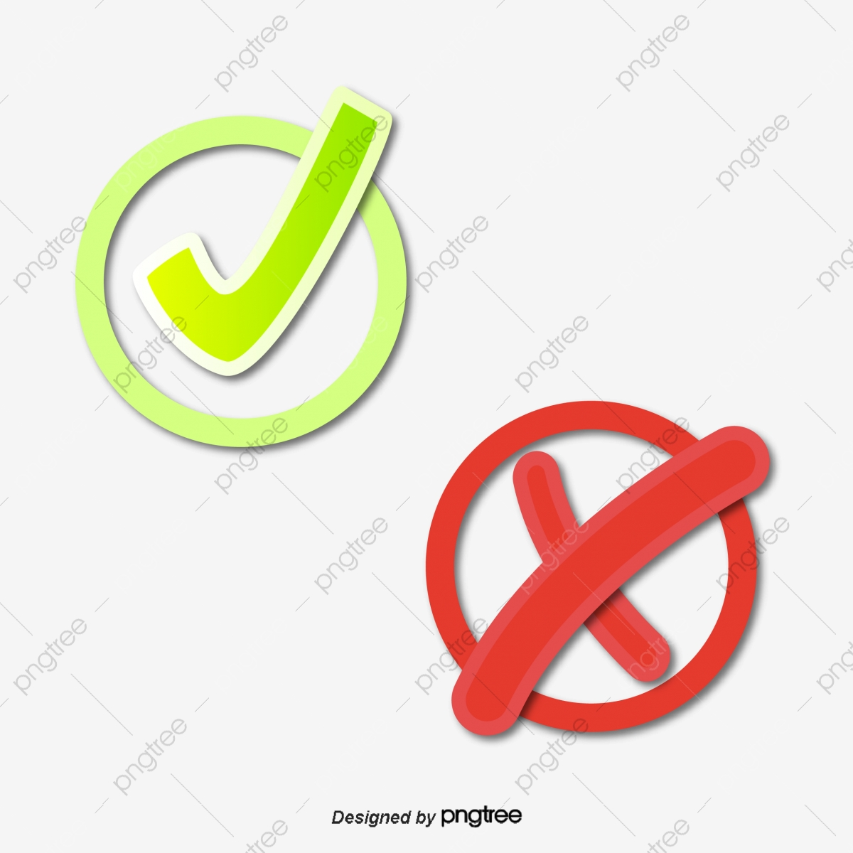Check Mark And Cross Mark, Check Clipart, Cross Clipart, Error PNG.