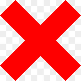X Mark PNG.