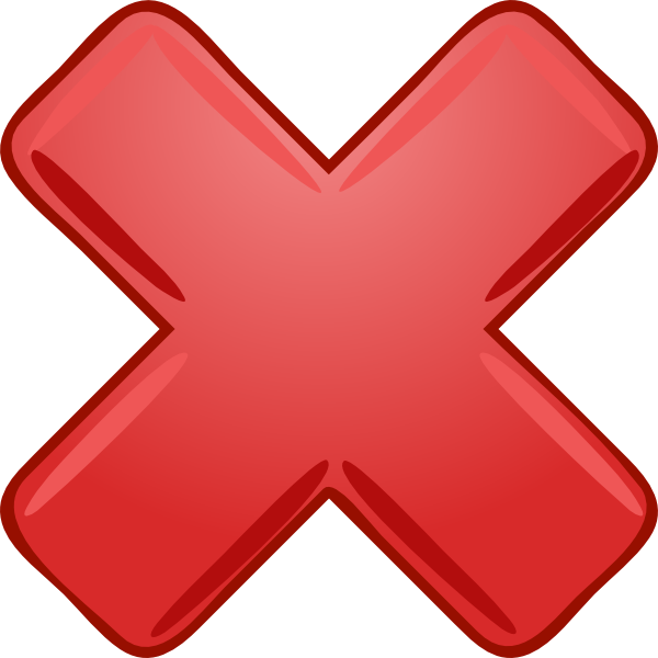 Red Cross Mark PNG Transparent Images.